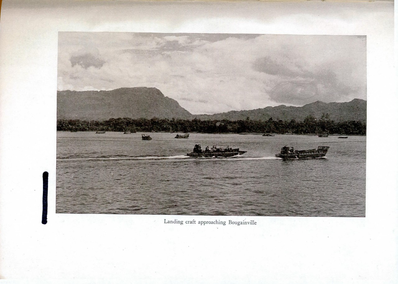 Landing craft approaching Bougainville