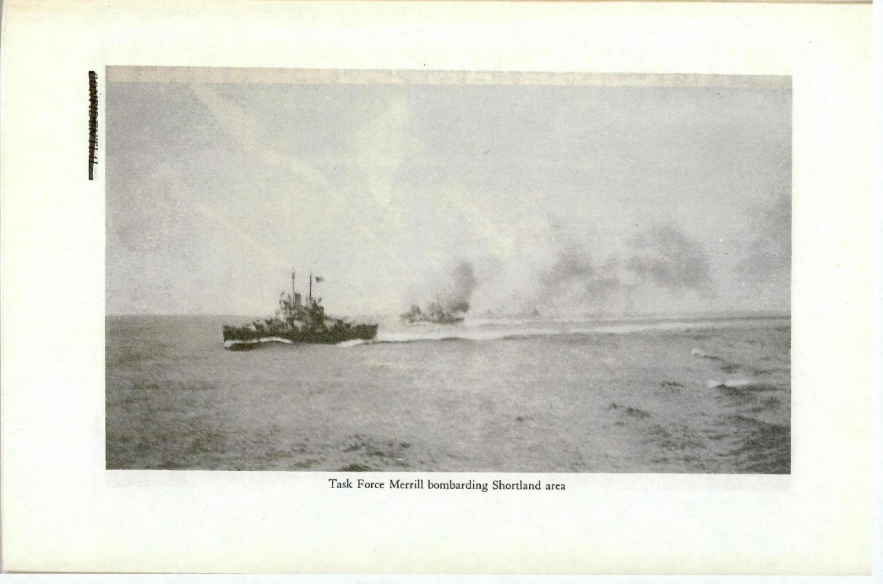 Task Force Merrill bombarding Shortland area