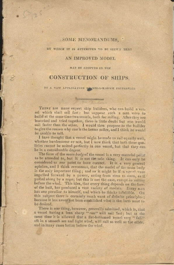 Image of page 1 Construction of Ships