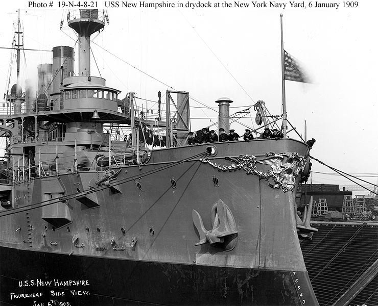 USS New Hampshire (Battleship # 25), 1909