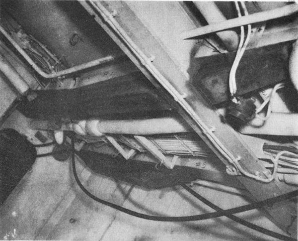 Photo 13: HOUSTON (CL 81) Typical repairs made by ship's force to longitudinals under main deck.