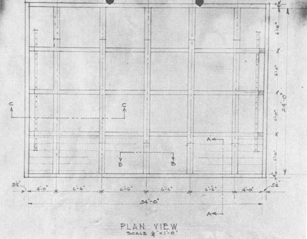 Photo 38: WADLEIGH (DD 689) Plan view of caisson.