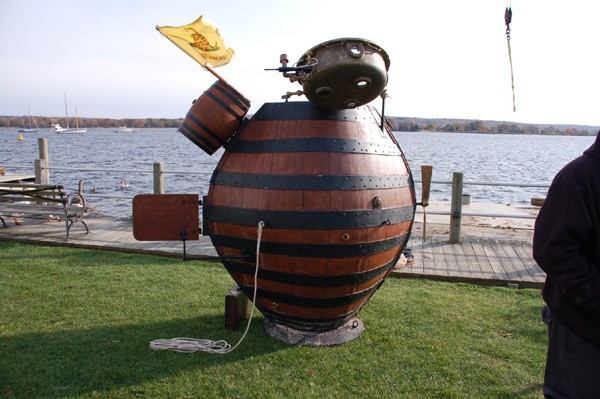 Full scale reproduction of the submarine Turtle from the Turtle Project (2007).