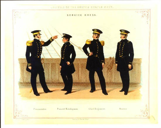 Service dress uniforms, drawn by J. Goldsborough Bruff.