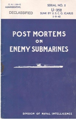 Image of 'Final Report of Interrogation of Survivors from U-352 Sunk by U.S.C.G. Icarus on May 9, 1942' cover.