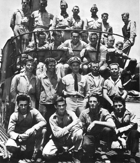 Commander R.H. O'Kane, USN, and 22 Aviators Rescued by USS Tang