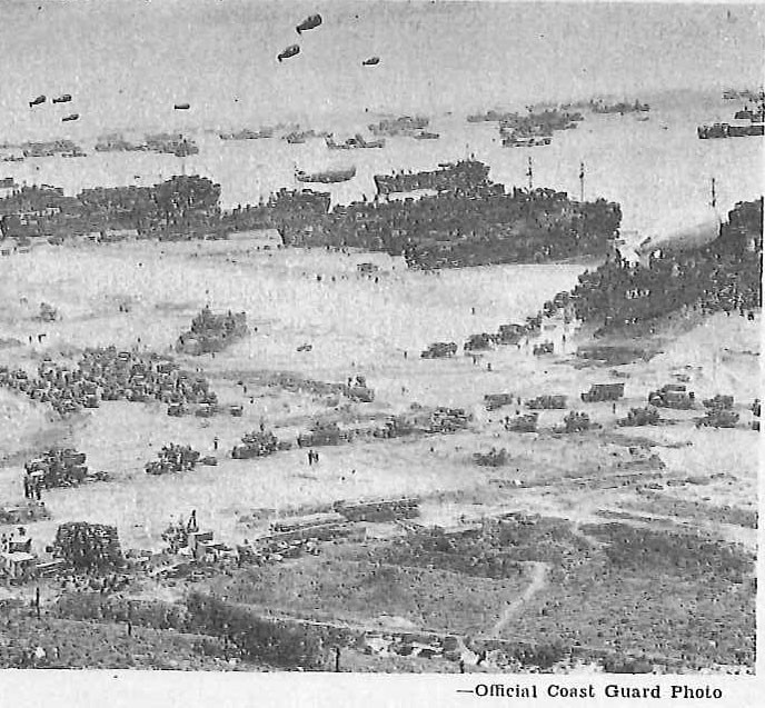Invasion of Normandy, Supplies coming ashore from LSTs