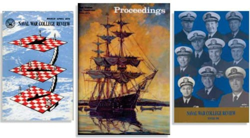 Image - Two Naval War College Review covers and one Proceedings