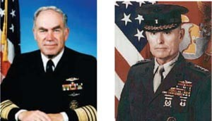 Image - CNO Admiral Frank B. Kelso, Jr. and CMC General Carl E. Mundy, Jr.