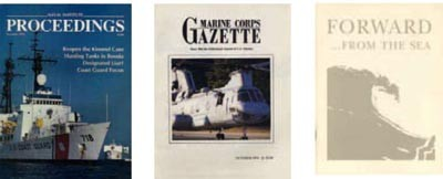 Image - Covers: Proceedings, Marine Corps Gazette, and Forwar...from the sea