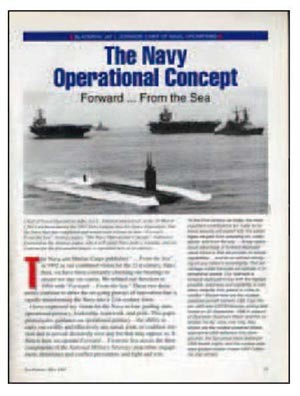 Image - Cover: The Navy Operational Concept