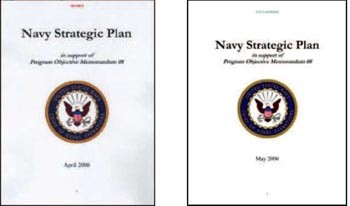 Image - Cover: Navy Strategic Plans (April & May 2006)