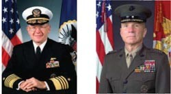 Image - CNO Admiral Vern Clark and CMC General Michael W. Hagee