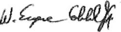 Image - Signature of Dr. W. Eugene Cobble, Jr. Director, Strategic Initiatives Group