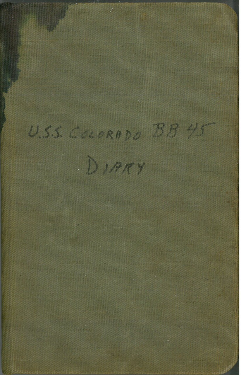 USS Colorado BB-45 diary cover