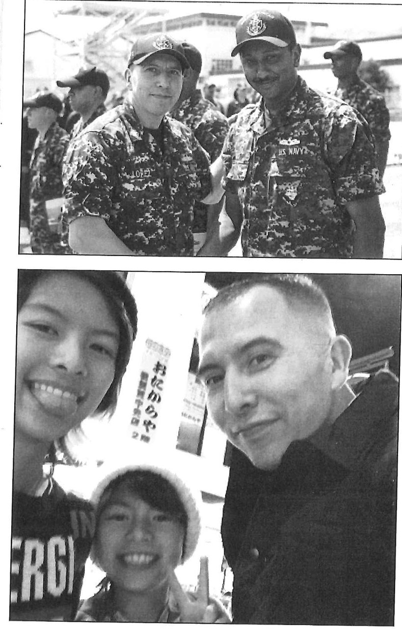 Photos of Chief Petty Officer Lopez