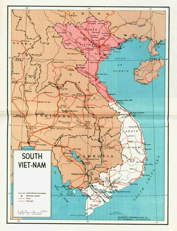 Image - Map of South Viet-Nam located on center pages of pamphlet.