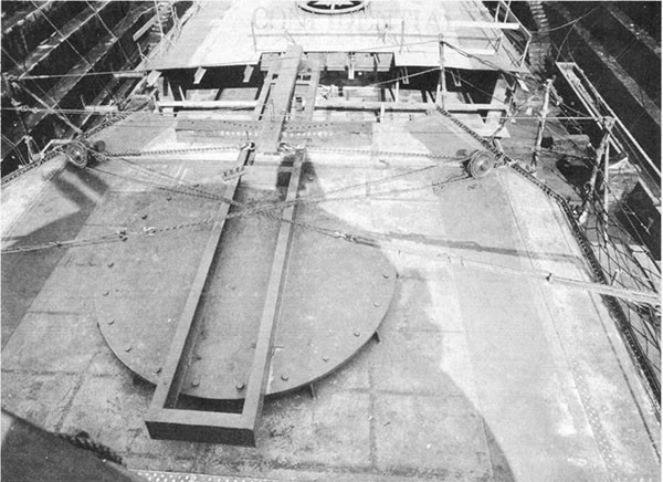 Photo 39: View of deck house looking aft showing steering arrangement.