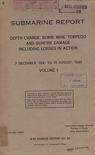 submarine report vol 1, war damage report no 58submarine report cover image
