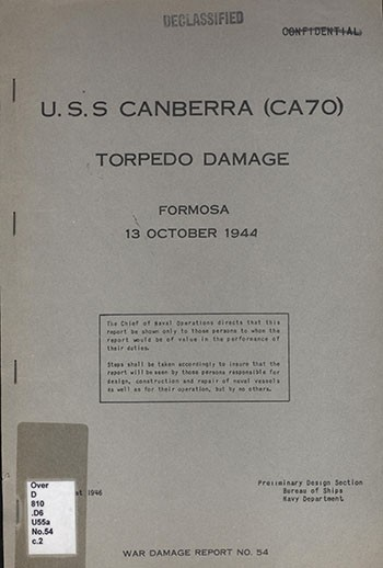 Cover of War Damage Report No. 54.