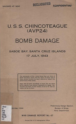 War Damage Report No. 47 cover