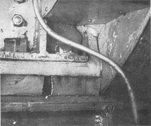 Photo I-8: First near-miss: Crack in No. 3 engine H.P. turbine pedestal.