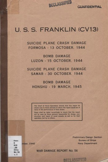 Image of the Cover for the U.S.S. Franklin (CV13) report