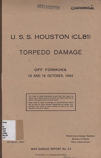 War Damage Report No. 53 cover.