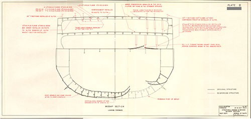 Plate II: Structural Damage & Repairs Midship Section