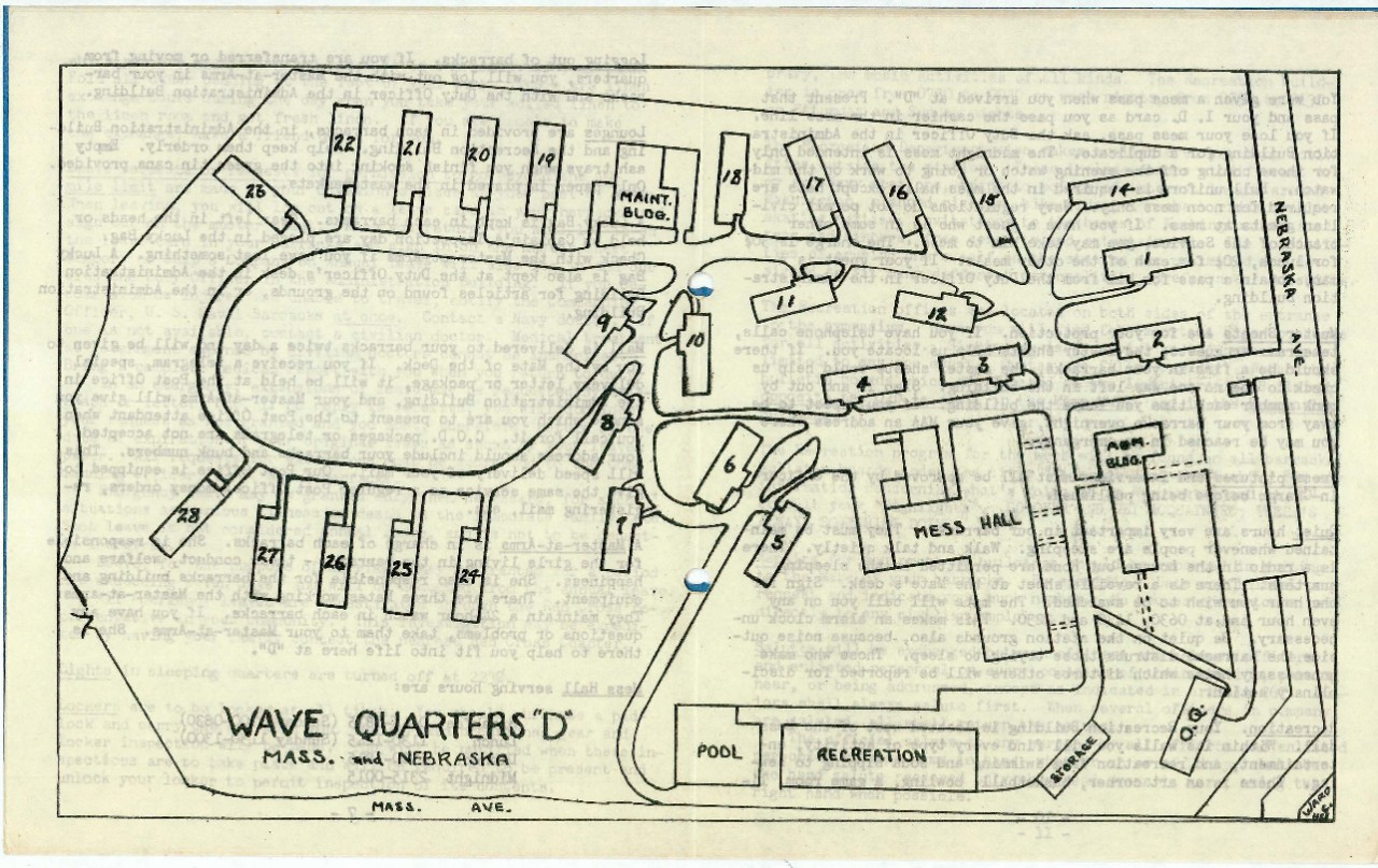 "map of WAVE QTRS. ""D"""