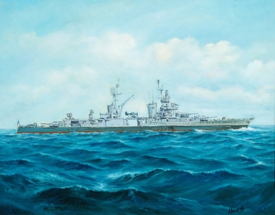 Painting of USS Indianapolis (CA-35)