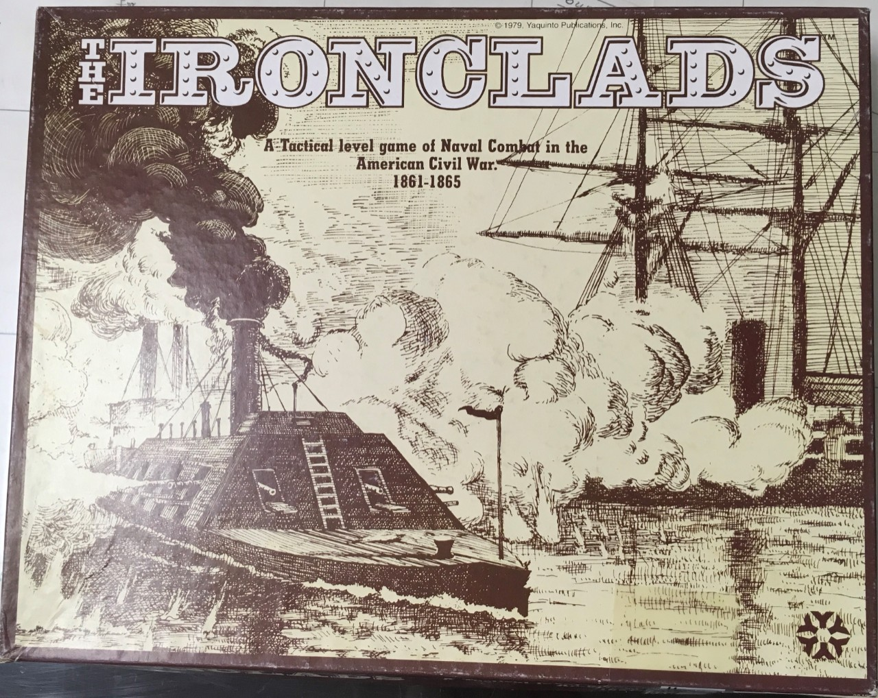 JPEG photo of the cover of the game Ironclads:A Tactical Level Game of Naval Combat in the American Civil War. 1861 – 1865