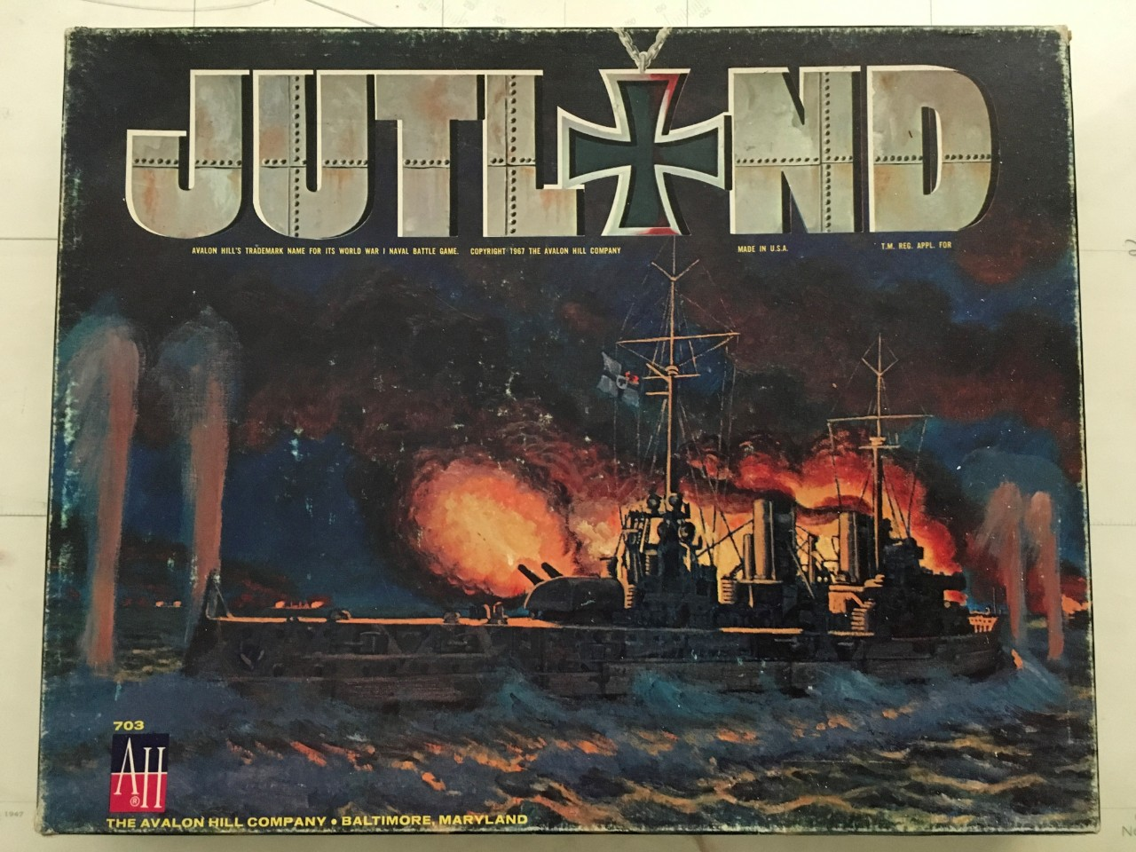 JPEG photo of the board game cover for Jutland: British Grand Fleet vs German Fleet, May 1916