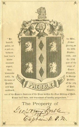 Image of Preble's bookplate