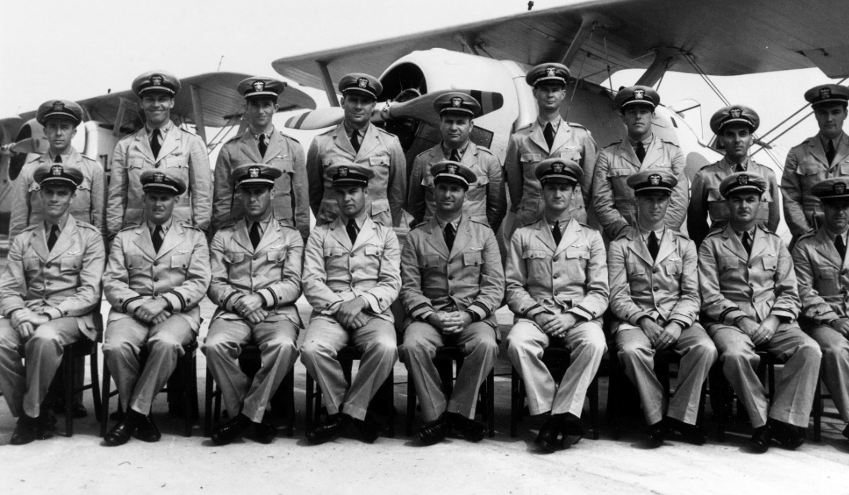 Photo #: 80-CF-8002-2 Fighting Squadron Five (VF-5) (seated, front row, left to right): (Standing, back row, left to right):