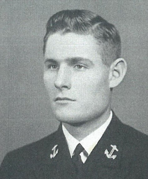 Image of Captain Frank A. Andrews is on page 106 of the 1942 Lucky Bag.