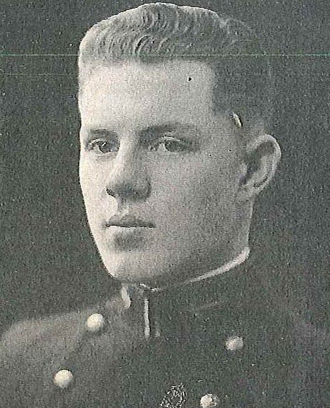 Photo of Captain Erasmus W. Armentrout, Jr. copied from page 309 of the 1926 edition of the U.S. Naval Academy yearbook 'Lucky Bag'.