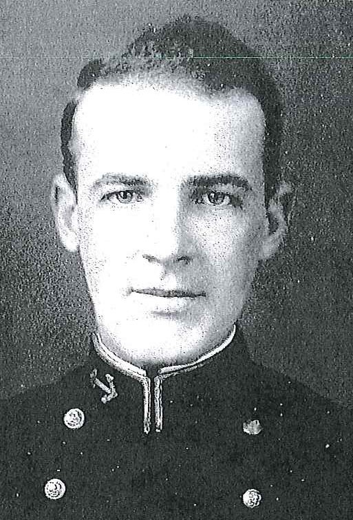 Photo of Captain Ralph W. Arndt copied from page 272 of the 1936 edition of the U.S. Naval Academy yearbook 'Lucky Bag'.
