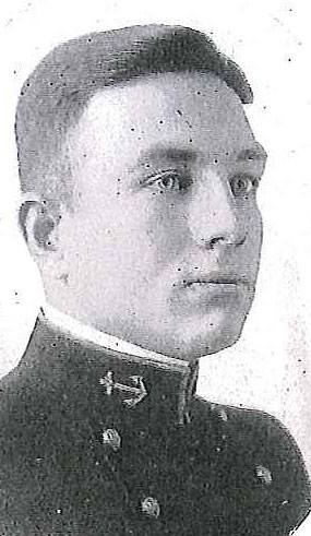 Photo of Lieutenant Commander Samuel H. Arthur copied from page 190 of the 1919 edition of the U.S. Naval Academy yearbook 'Lucky Bag'.