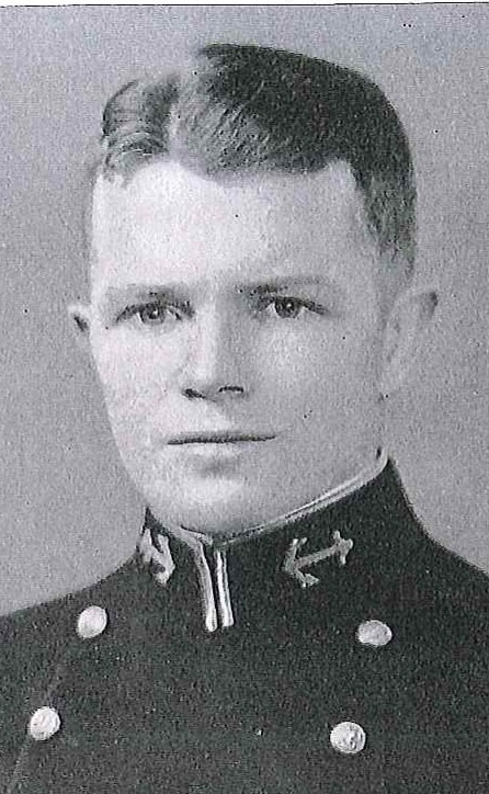 Photo of Captain George W. Ashford copied from page 285 of the 1929 edition of the U.S. Naval Academy yearbook 'Lucky Bag'.