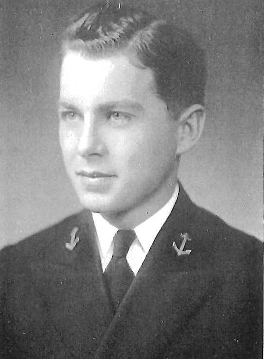 Photo of Captain John J. Becker copied from page 206 of the 1935 edition of the U.S. Naval Academy yearbook 'Lucky Bag'.