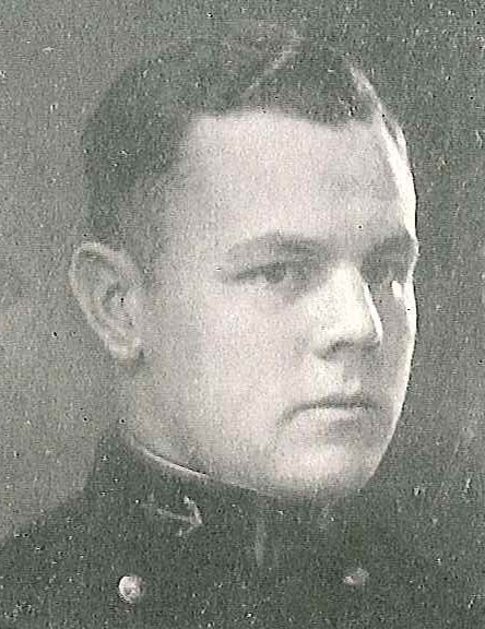 Photo of Captain Barton E. Bacon, Jr. copied from page 118 of the 1925 edition of the U.S. Naval Academy yearbook 'Lucky Bag'.