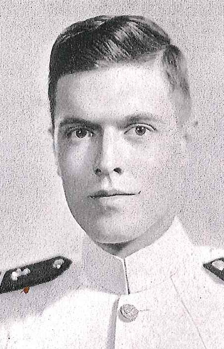 Photo of Vice Admiral David H. Bagley copied from page 179 of the 1944 edition of the U.S. Naval Academy yearbook 'Lucky Bag'.