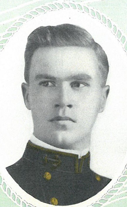 Photo of Carlos A. Bailey copied from page 55 of the 1911 edition of the U.S. Naval Academy yearbook 'Lucky Bag'