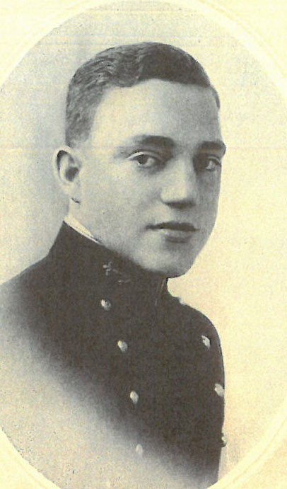 Photo of RADM Charles A. Baker copied from page 64 of the 1916 edition of the U.S. Naval Academy yearbook 'Lucky Bag'.