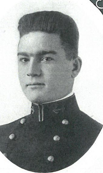 Photo of RADM Felix L. Baker copied from page 174 of the 1920 edition of the U.S. Naval Academy yearbook 'Lucky Bag'.
