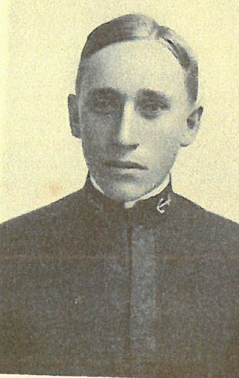Photo of Captain Guy E. Baker copied from page 21 of the 1907 edition of the U.S. Naval Academy yearbook 'Lucky Bag'