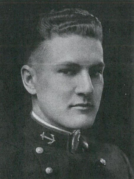 Photo of Vice Admiral Harold D. Baker copied from page 320 of the 1922 edition of the U.S. Naval Academy yearbook 'Lucky Bag'.