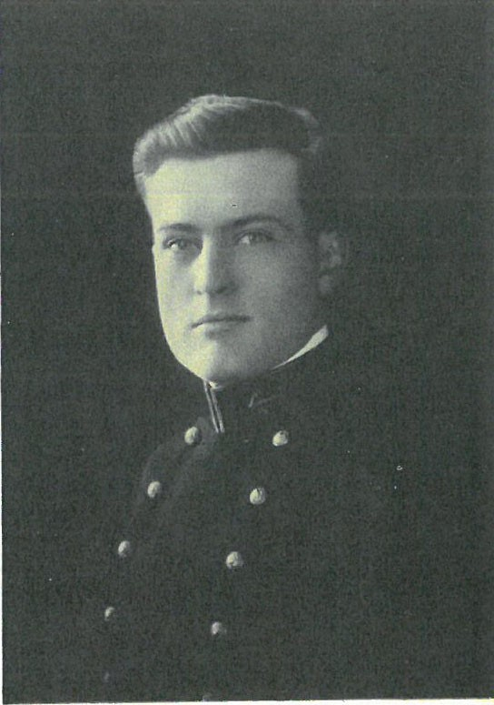 Photo of Vice Admiral Wilder Dupuy Baker copied from page 50 of the 1914 edition of the U.S. Naval Academy yearbook 'Lucky Bag'.