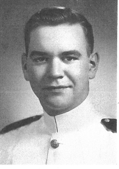 Photo of Commander Harlan J. Bakke copied from page 486 of the 1951 edition of the U.S. Naval Academy yearbook 'Lucky Bag'.